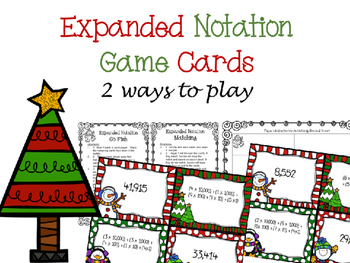 Holiday Expanded Notation Card Game