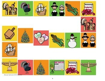 Holiday FIle Folder Vocabulary Match and Game _ autism _ special education