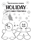 Holiday Fact Family Printable (Division & Multiplication)
