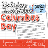 Holiday Fact Sheet - Columbus Day