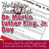 Holiday Fact Sheet - Dr. Martin Luther King, Jr. Day