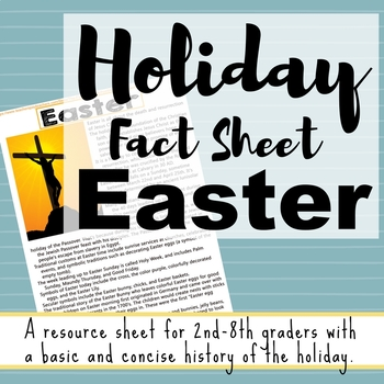 Holiday Fact Sheet - Easter (Christian Worldview)