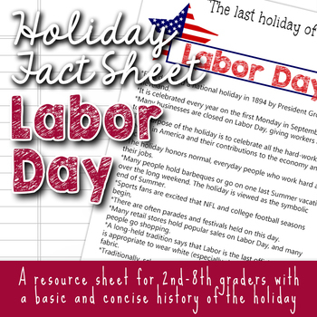 Holiday Fact Sheet - Labor Day
