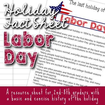 Holiday Fact Sheet - Labor Day