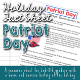Holiday Fact Sheet - Patriot Day September 11th