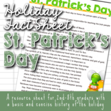 Holiday Fact Sheet - St. Patrick's Day