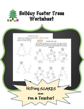 Holiday Factor Tree Worksheet
