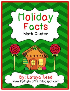 Holiday Facts Math Center FREEBIE