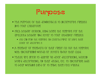 Holiday Family Writing Prompts School and Family Involvement