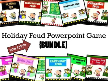 Holiday Feud Powerpoint Game {BUNDLE} 25% OFF!!