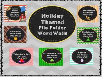 Holiday File Folder Word Wall Bundle!