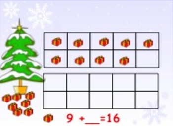 Holiday Find the Missing Addend Interactive Lesson