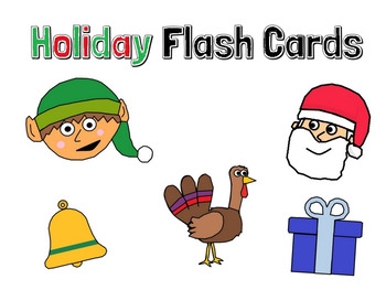 Holiday Flash Cards (Missing Letters, Identification, Spelling)