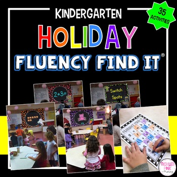 Holiday Fluency Find It Growing Bundle (Kindergarten)