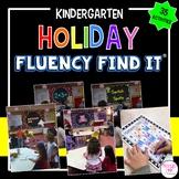 Holiday Fluency Find It BUNDLE (Kindergarten)