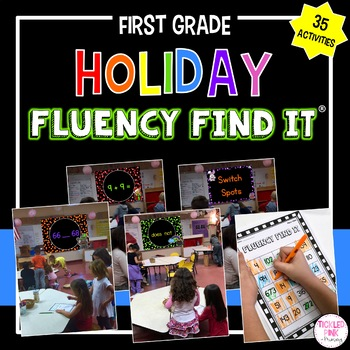 Holiday Fluency Find It Growing Bundle (1st Grade)