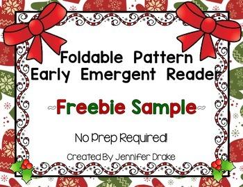 Holiday Foldable Emergent Reader FREEBIE!  CC Aligned!  No Prep!