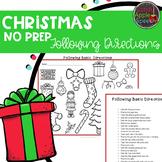 Christmas Following Directions- No Prep