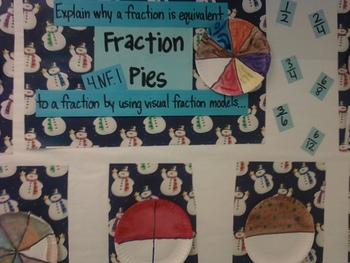 Holiday Fraction Pies Activity