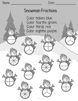 Holiday Fraction Printables