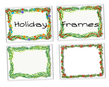Holiday Frames Clipart