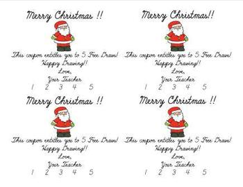 Holiday Free Draw Coupons Freebie!