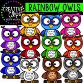 {FREE} Rainbow Owl Clipart {Creative Clips Clipart}