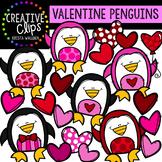 Valentine Penguins: Valentine Clipart {Creative Clips Clipart}