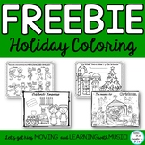 FREEBIE: Holiday Coloring Sheets for Kwaanza, Christmas, N