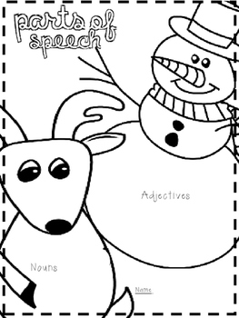 Holiday Freebie!  Parts of Speech