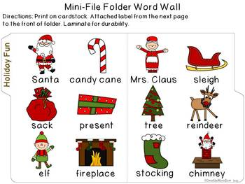Holiday Fun Mini-Word Wall Activity Pack