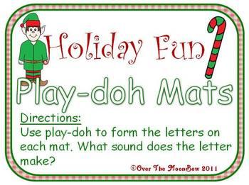 Holiday Fun Playdoh Mats