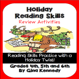 Christmas Holiday Reading Skills & Writing Review for Uppe