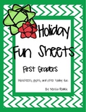 Holiday Fun Sheets for First Grade