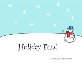 Holiday Fun Smartboard Lesson