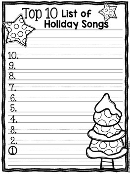 Holiday Fun Top Ten Lists