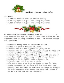 Holiday Fundraising Project