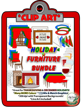 Holiday Furniture Clip Art Bundle- From LilyVale Learning