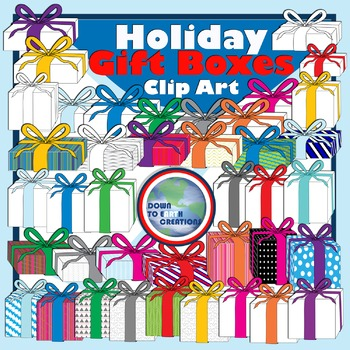 Holiday Gift Boxes Clipart