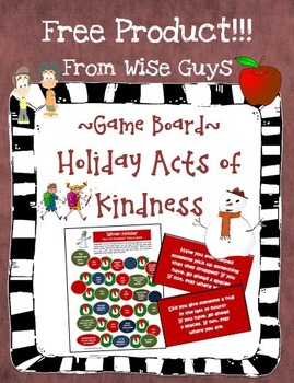 "Holiday Game Board ""Acts of Kindness"" Theme Cooperative Activity"