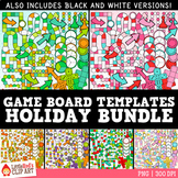 Holiday Game Board Templates Clip Art BUNDLE