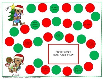 Game Boards - Additon and Subtraction Practice - Christmas Edition