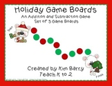 Game Boards - Additon and Subtraction Practice - Christmas