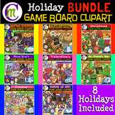 Holiday Game Boards Clipart BUNDLE