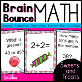 First Grade Spiral Review Math Center-Distance Learning Card Packet