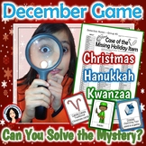 Holiday Game Christmas Hanukkah Kwanzaa Whole Class Mystery Activity