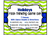 Holiday Games Bundle: 7 Scattergories Games for Grades 3-12