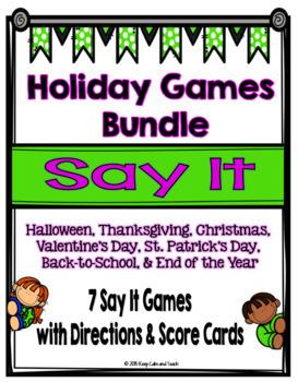 Holiday Games Bundle {7 Games}