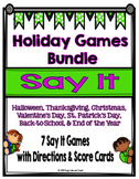 Holiday Games Bundle {7 Games}