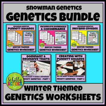 Snowman Genetics Worksheet - Monohybrid & Dihybrid